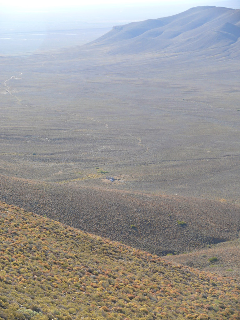A view of the farm in the Succulent Karoo from one of the surrounding mountains