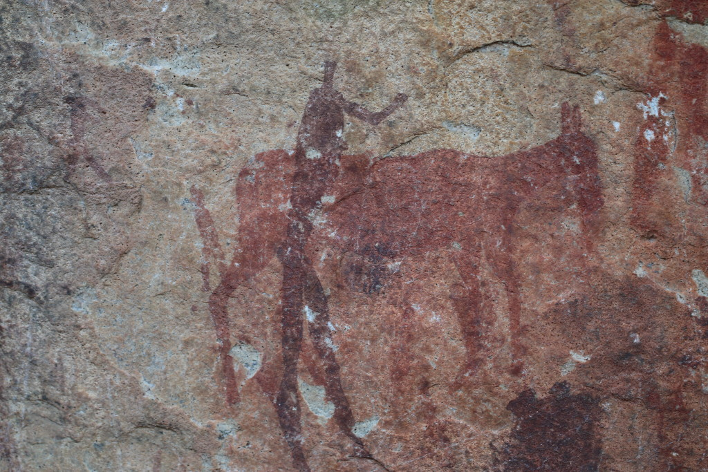 The presence of rock art in caves on the mountain indicates that it has been inhabited for many centuries